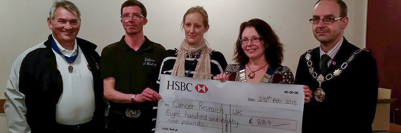 £889 raised for Cancer Research UK from 007 fundraising evening