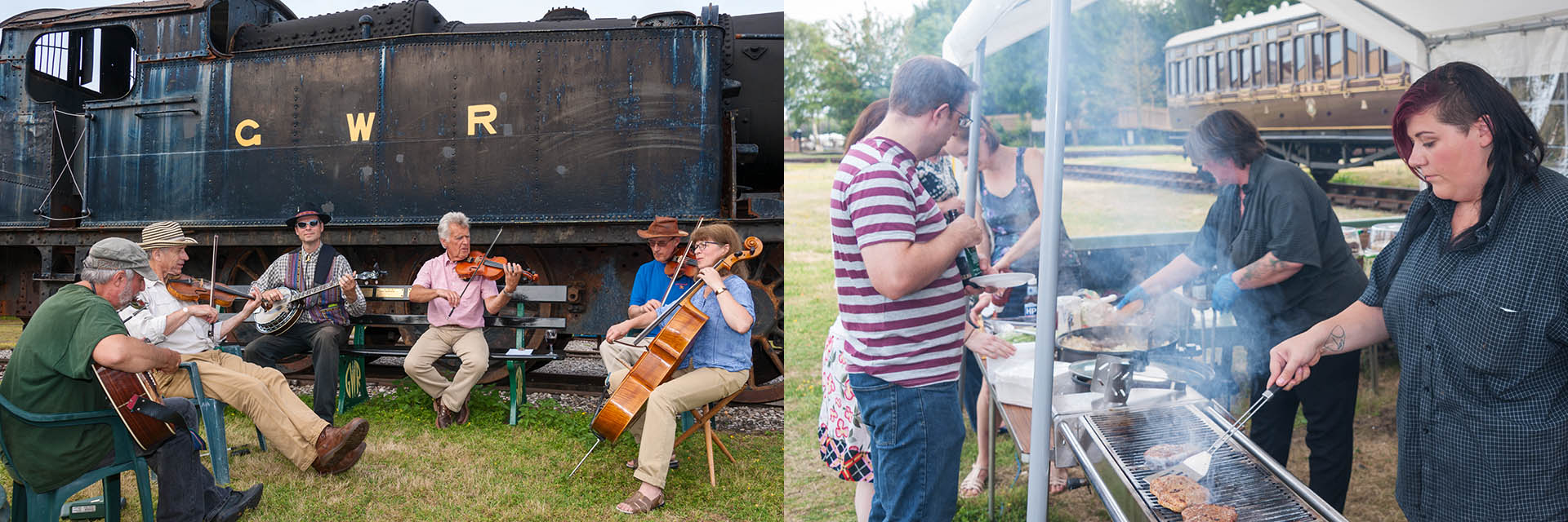 Summer BBQ event at Didcot Railway Centre